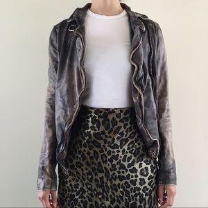 Mubba Weather Finished Leather Jacket